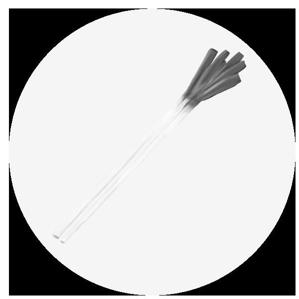 ネギイラスト(白黒)