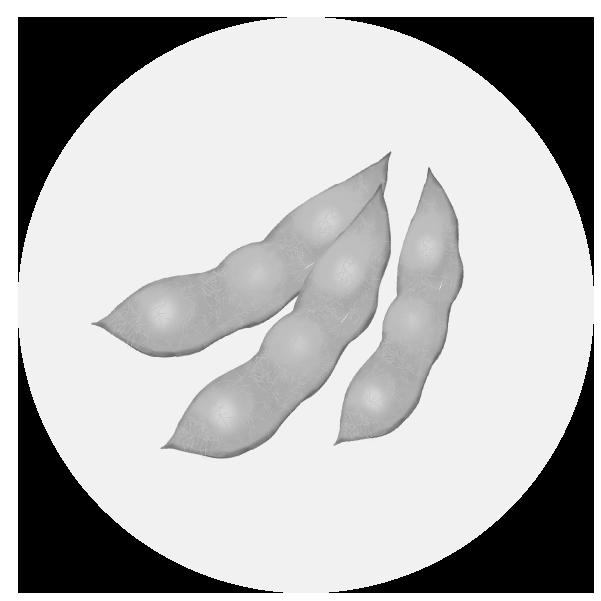 枝豆のイラスト(白黒)