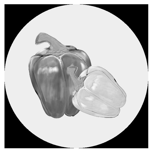 パプリカのイラスト(白黒)