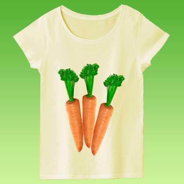 野菜Tシャツ - 面白い手描きのデザイングッズ