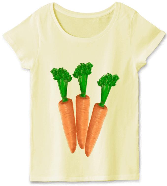 人参野菜Tシャツ