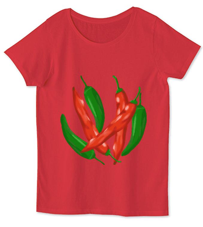 唐辛子野菜Tシャツ