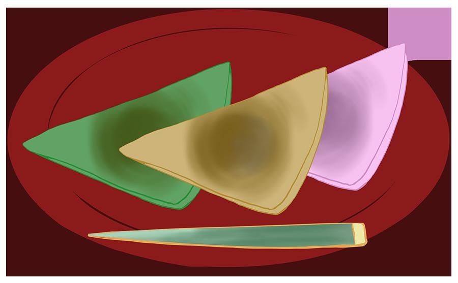八橋のイラスト(カラー)