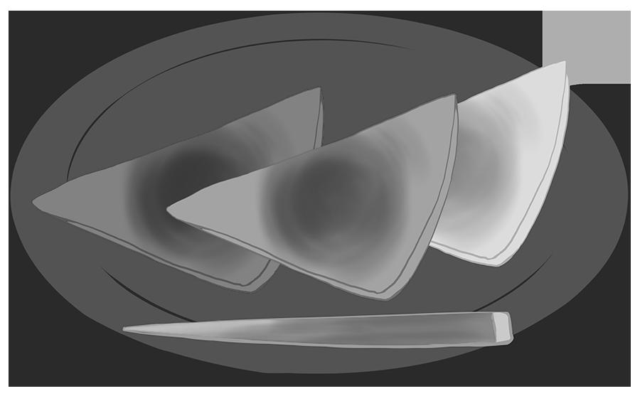 八橋のイラスト(白黒)