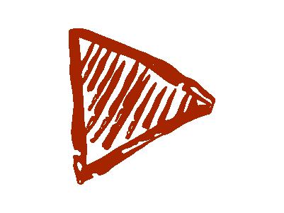 手書三角矢印のイラスト