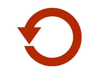 ローテ丸矢印のイラスト