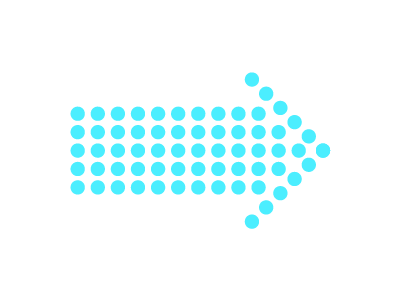 点の矢印のイラスト
