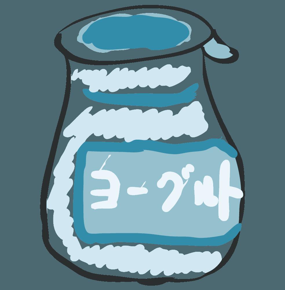 手描きの飲むヨーグルトのイラスト