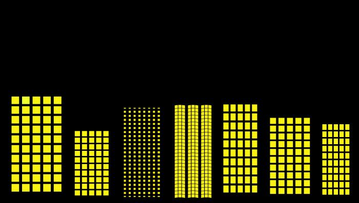 夜のビルのイラスト