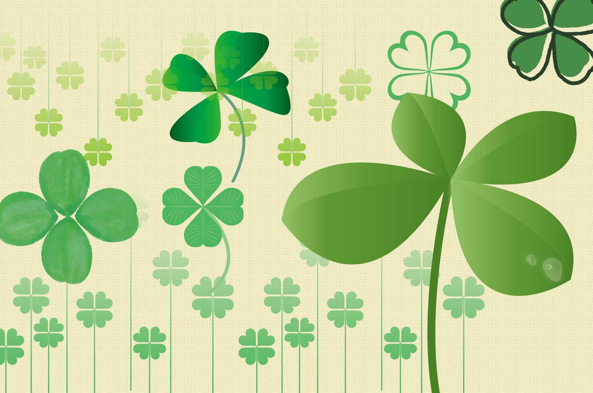 四つ葉のクローバーのイラスト - フリーの可愛い植物素材