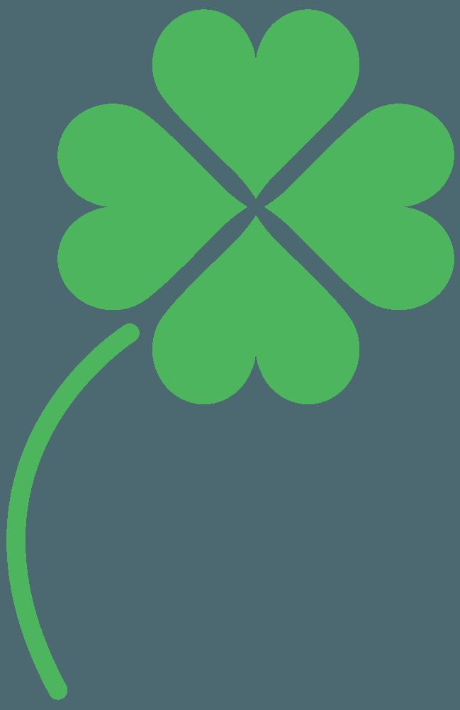 シンプルな四つ葉のクローバーイラスト