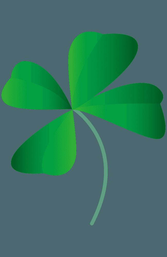 可愛い四つ葉のクローバーイラスト