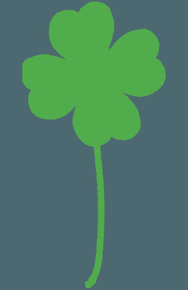 ラフな四つ葉のクローバーイラスト