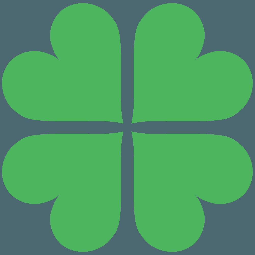 ハートの四つ葉のクローバーイラスト
