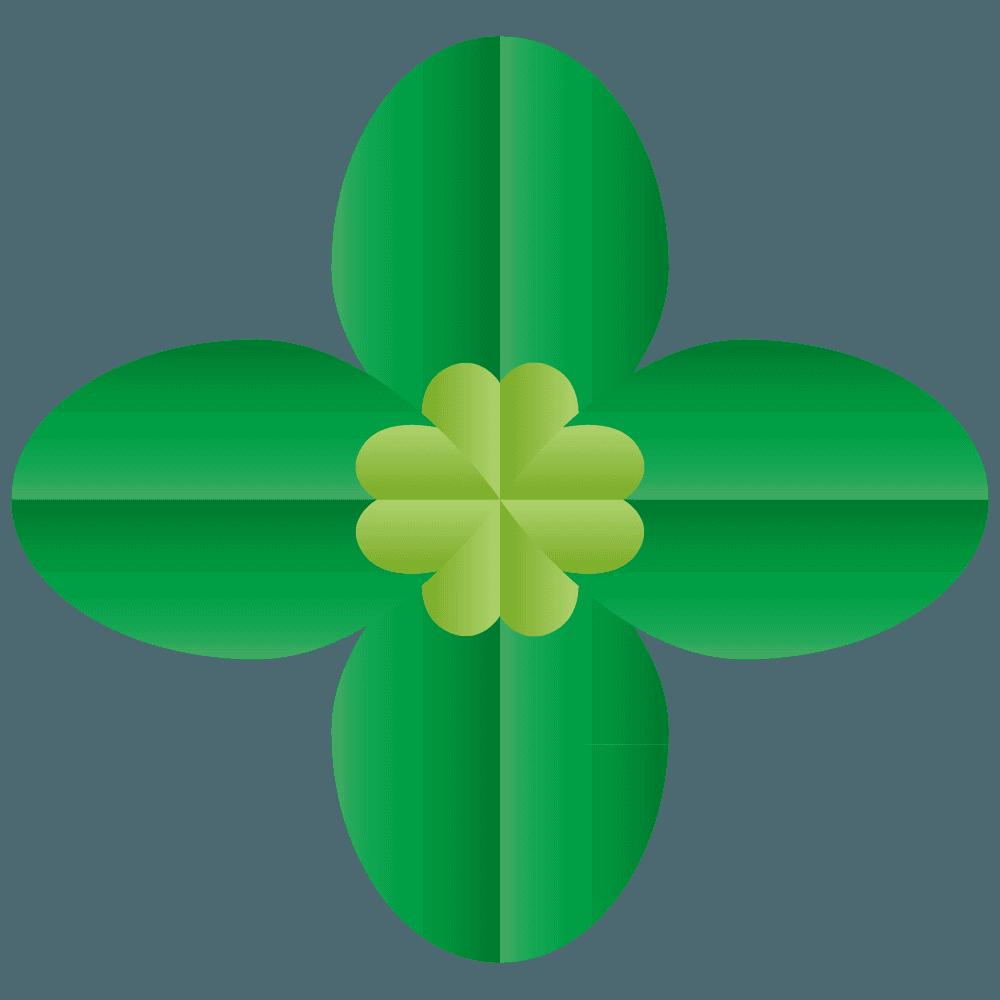ベクター感の四つ葉のクローバーイラスト