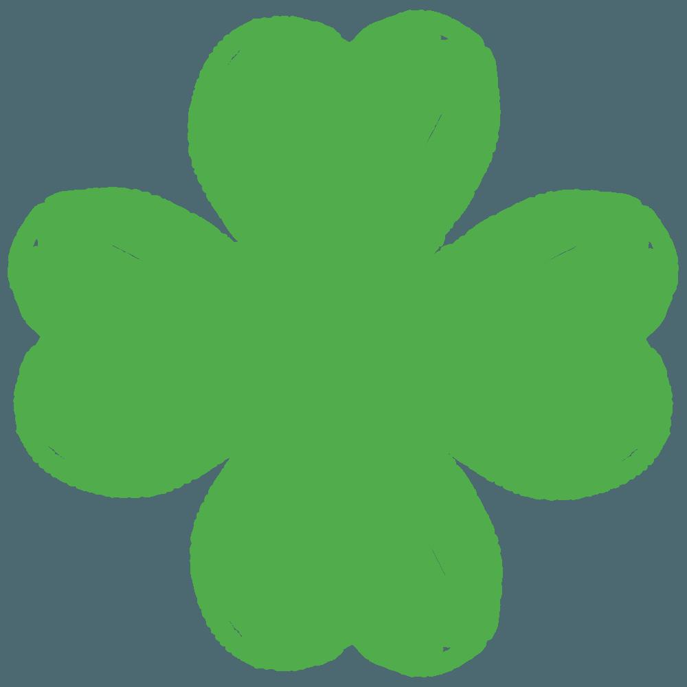 サインペンで描く四つ葉のクローバーイラスト