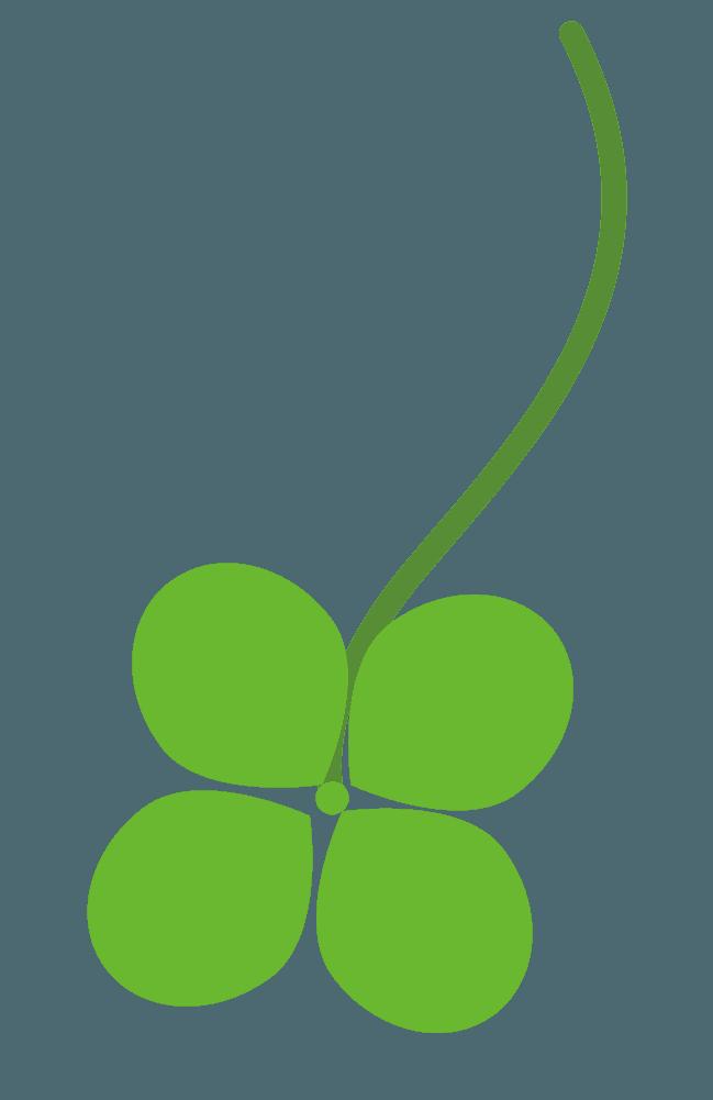 落ちる四つ葉のクローバーイラスト