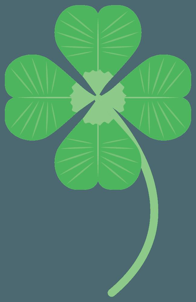 シロツメ四つ葉のクローバーイラスト