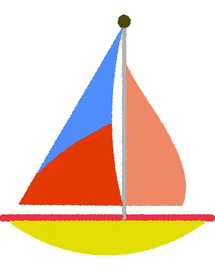 可愛いヨットのイラスト1