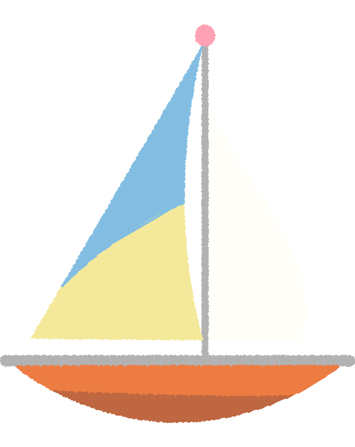 可愛いヨットのイラスト2