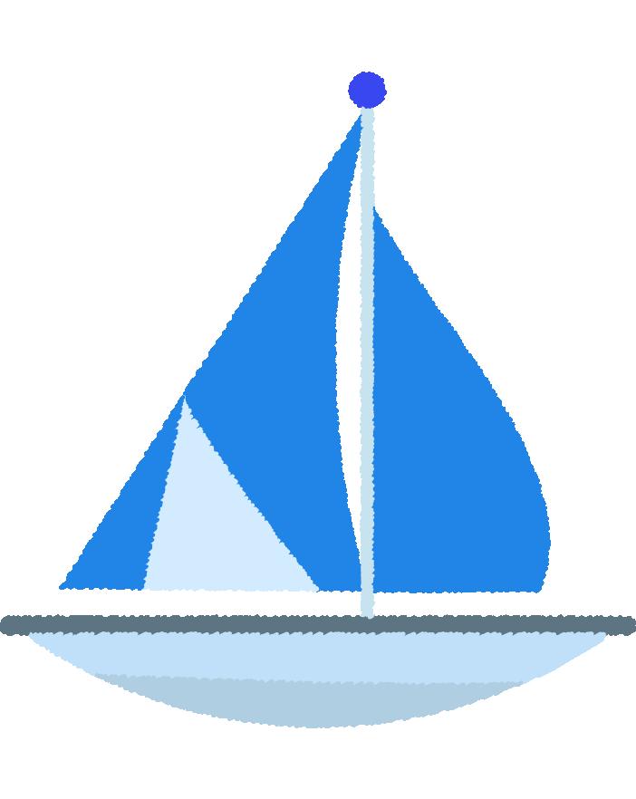 可愛いヨットのイラスト3