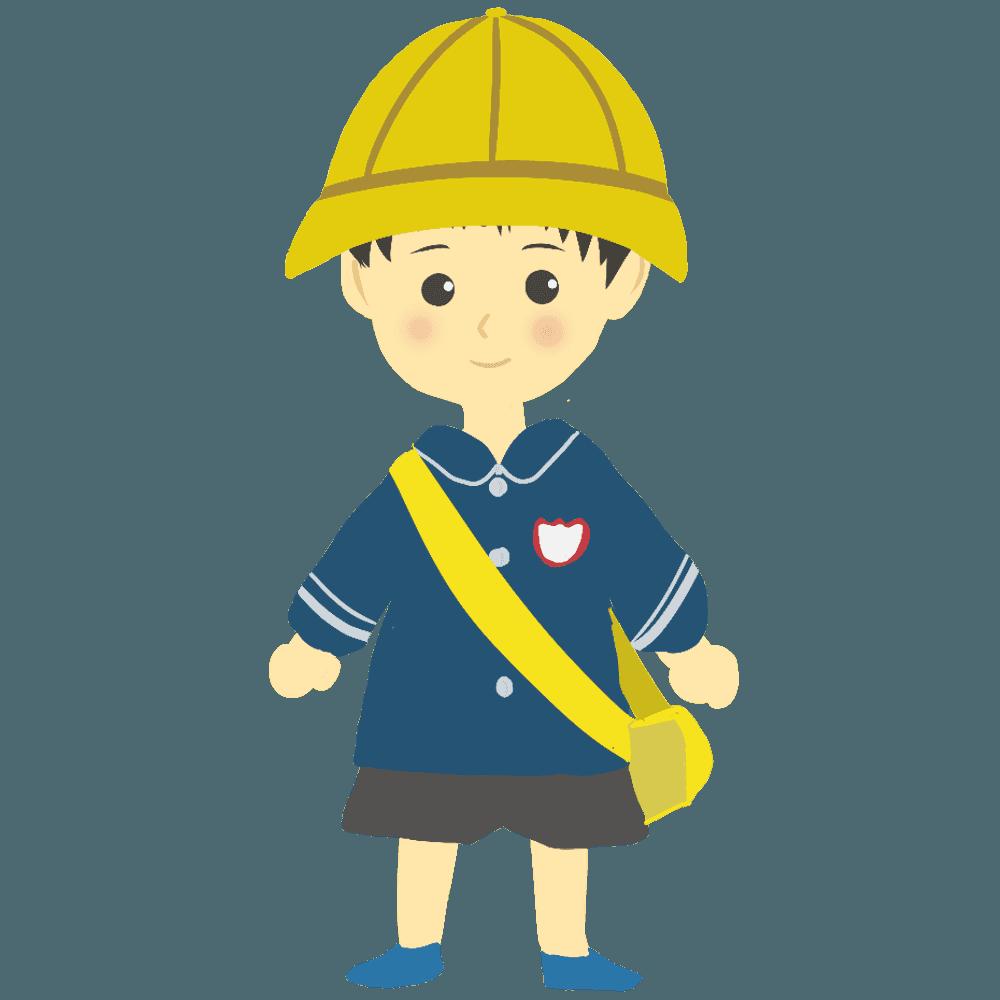 可愛い男の子の幼稚園児イラスト
