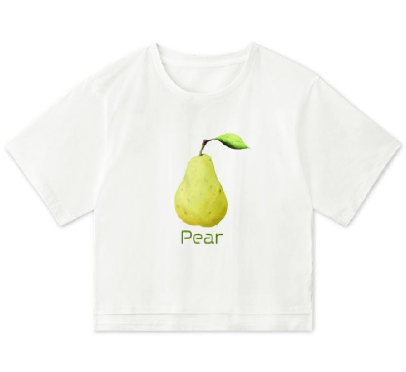 洋梨オーバーTシャツ