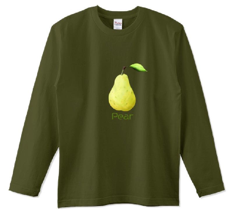 洋梨ロングTシャツ