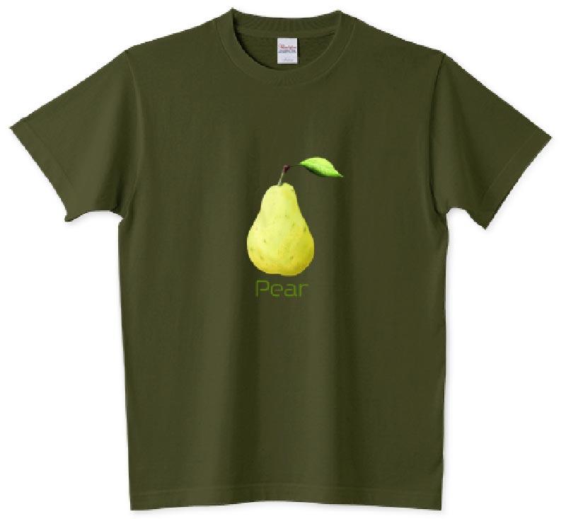 洋梨Tシャツ 5.6ozアーミーグリーン