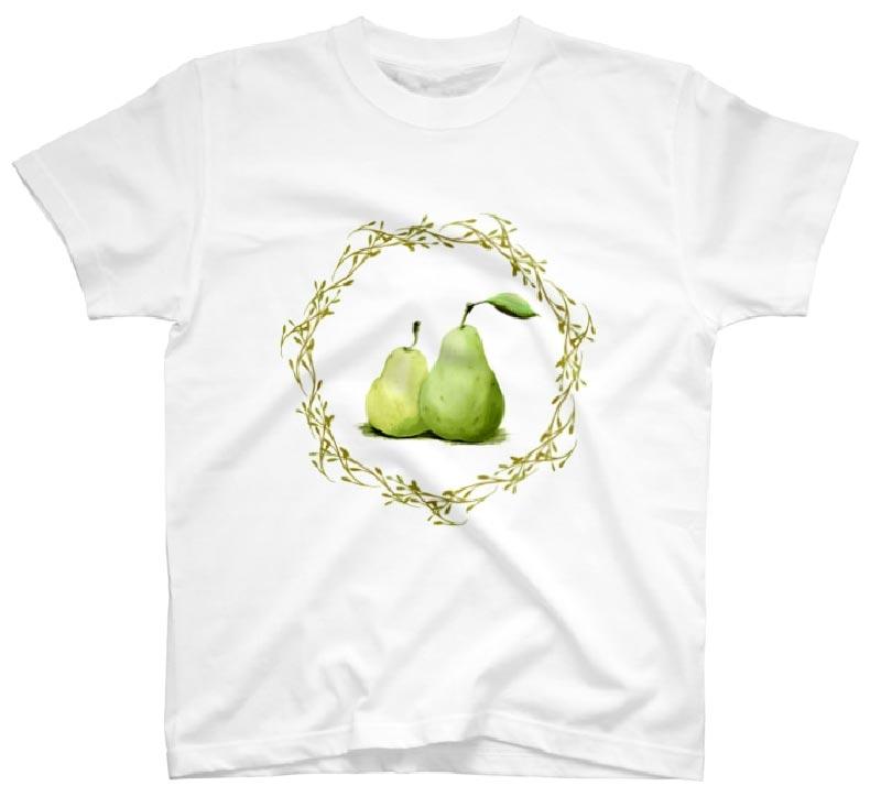 洋梨Tシャツ ノーマルホワイト