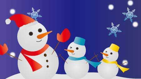 雪だるまイラスト - 可愛い冬の風物詩の無料素材