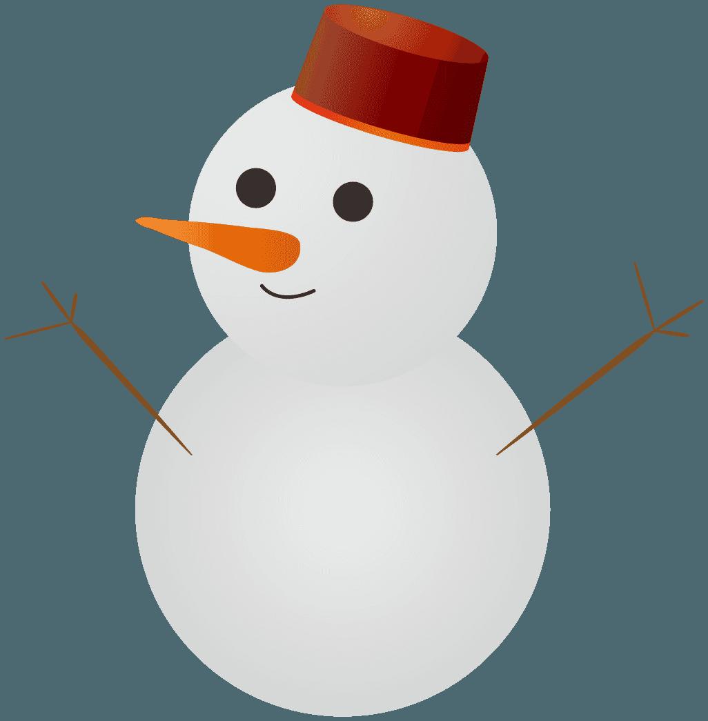 可愛い雪だるまイラスト