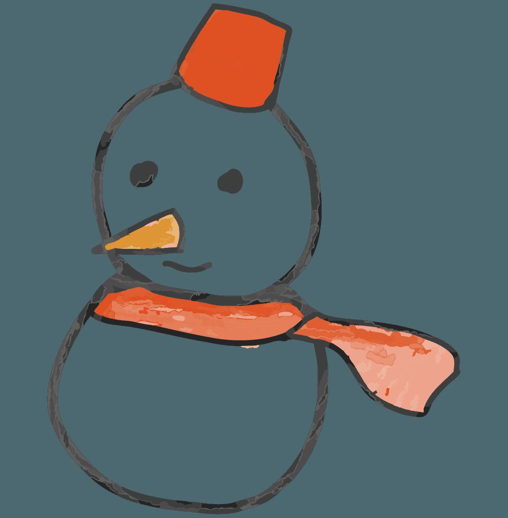 落書き雪だるまイラスト