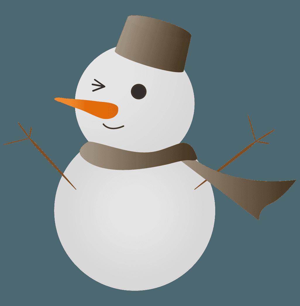 グレーの雪だるまイラスト