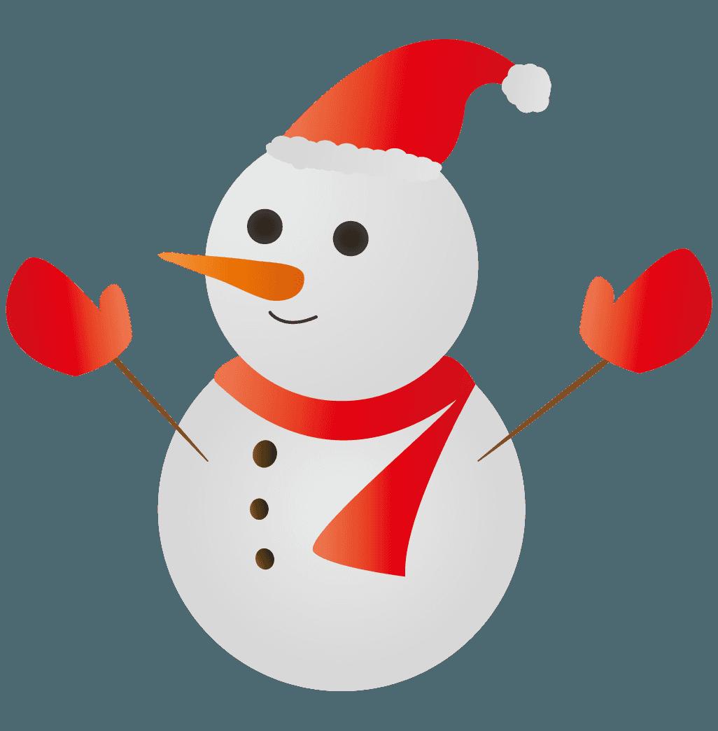クリスマスの雪だるまイラスト