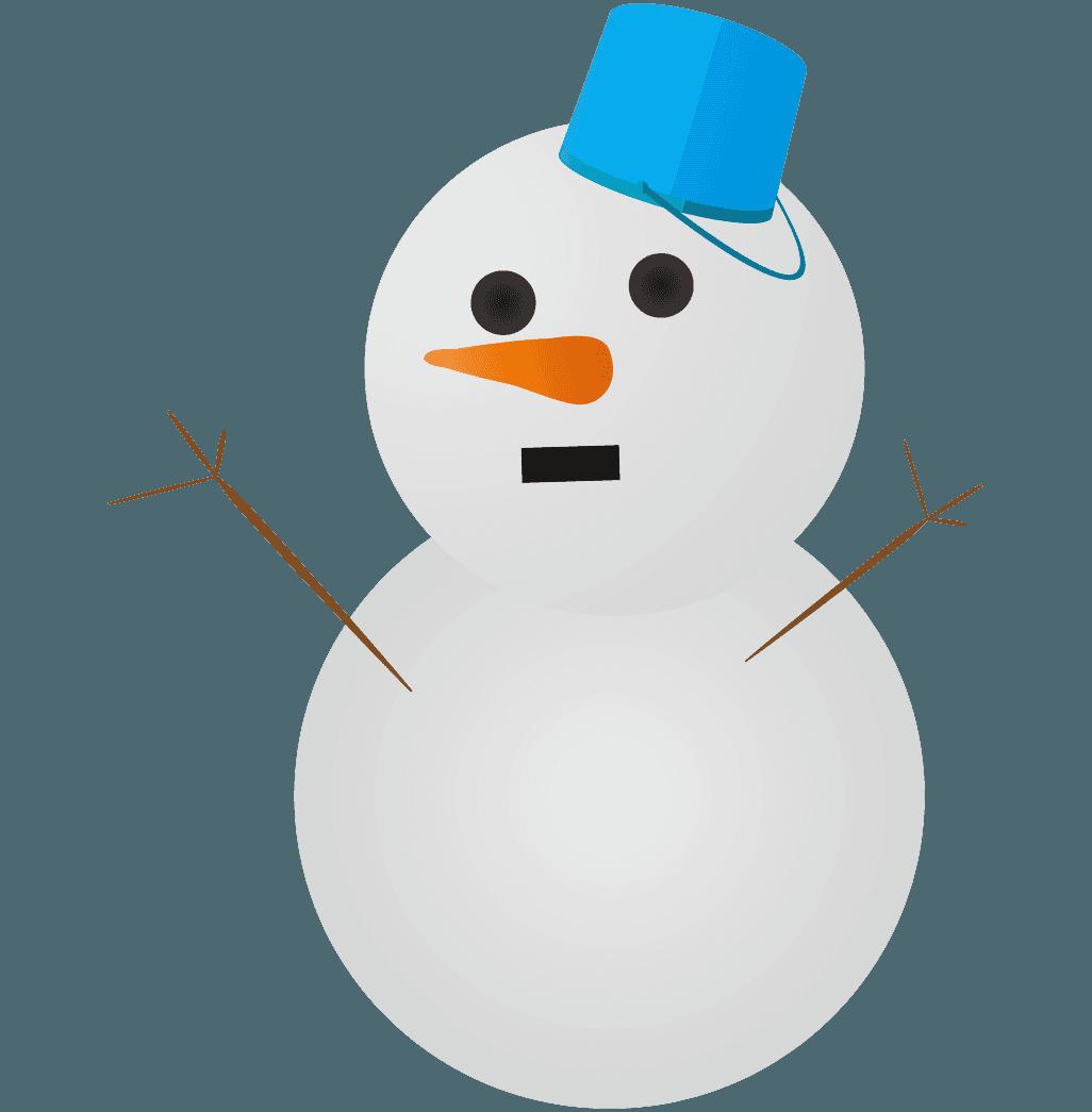 子供が作った雪だるまイラスト