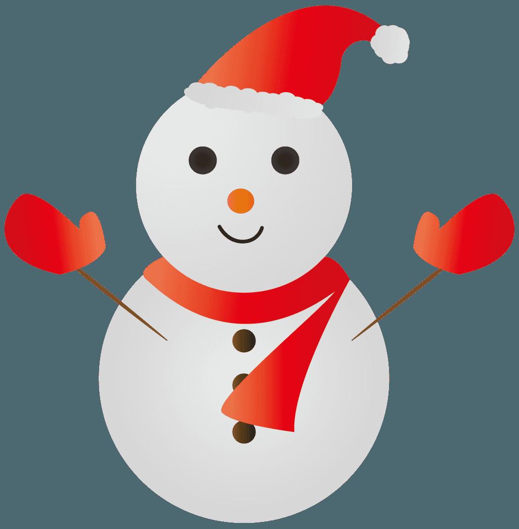 サンタの雪だるまイラスト