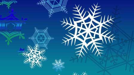雪の結晶イラスト - 凍える氷とアートなイメージ無料素材
