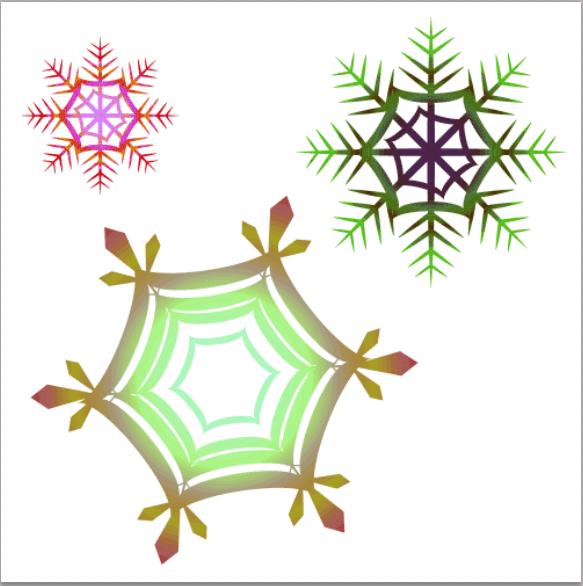 不思議な雪の結晶オリジナルイラスト