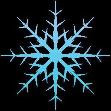 トゲトゲの雪の結晶イラスト