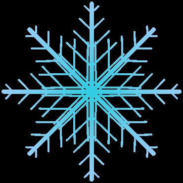 鉄塔風の雪の結晶イラスト