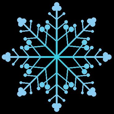 細い文様の雪の結晶イラスト