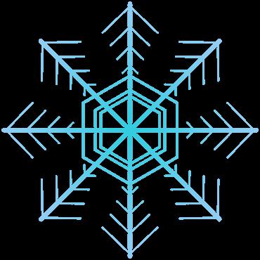 六花の雪の結晶イラスト