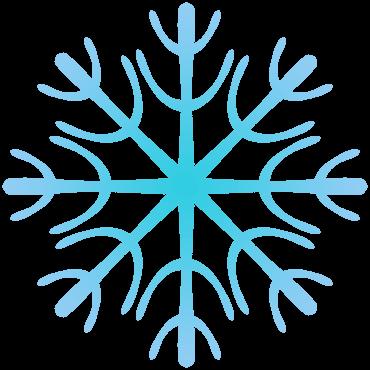 サボテン風の雪の結晶イラスト
