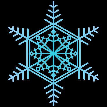 スタンダードなクリスマス風の雪の結晶イラスト