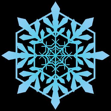 クリスタルと六角形の雪の結晶イラスト