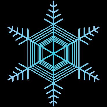 雪のイメージに使えるシンプルな雪の結晶イラスト