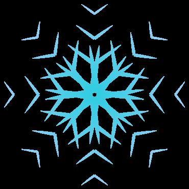 不思議な雪の結晶イラスト