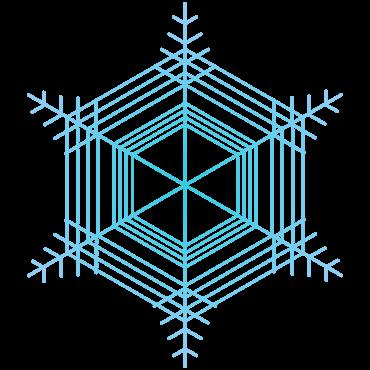 六花シンプル雪の結晶イラスト