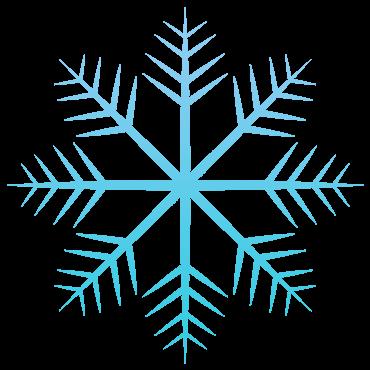 とげとげが沢山の雪の結晶イラスト